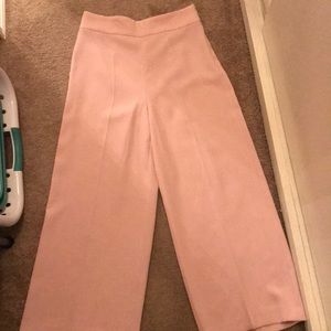 Zara light pink work trousers